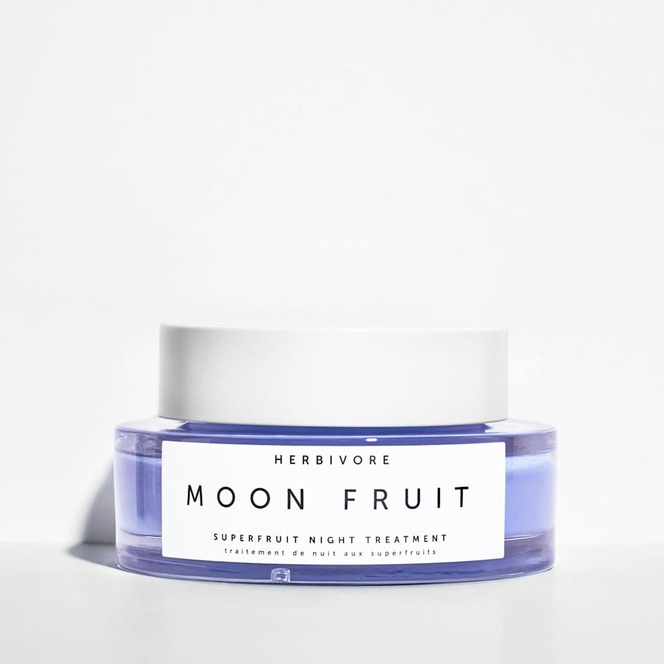 """<p>Like the name suggests, Herbivore's chic Moon Fruit Superfruit Night Treatment is packed with exfoliating fruit enzymes to give you glowy skin by the time your alarm clock sounds off. Hyaluronic acid, kokum, and shea butters provide overnight hydration to even the driest of complexions.</p> <p><strong>$58</strong> (<a href=""""https://shop-links.co/1668095281849930182"""" rel=""""nofollow noopener"""" target=""""_blank"""" data-ylk=""""slk:Shop Now"""" class=""""link rapid-noclick-resp"""">Shop Now</a>)</p>"""