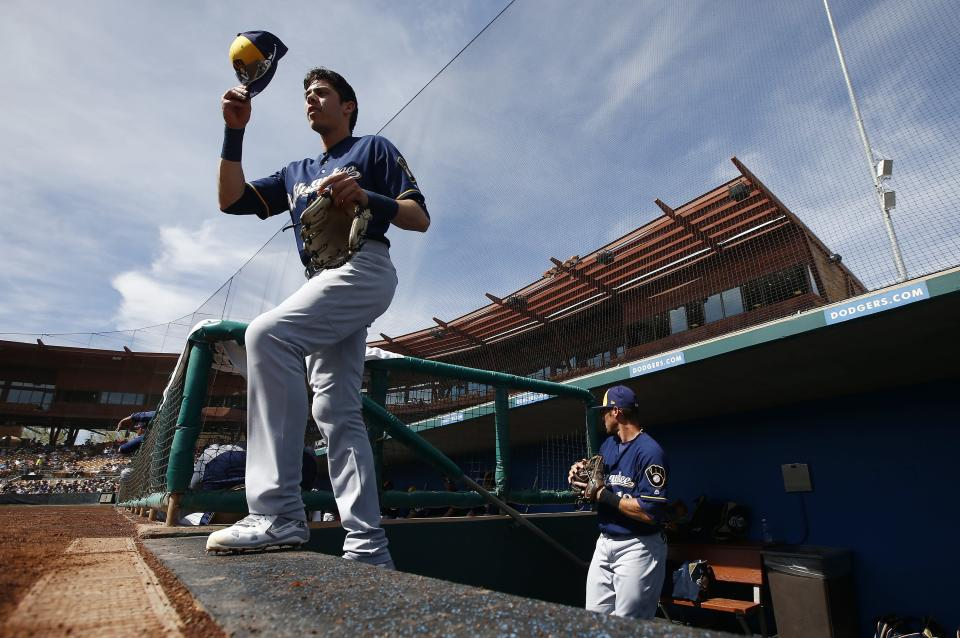 Christian Yelich should benefit in a big way from the move to Milwaukee. (AP Photo/Ross D. Franklin)