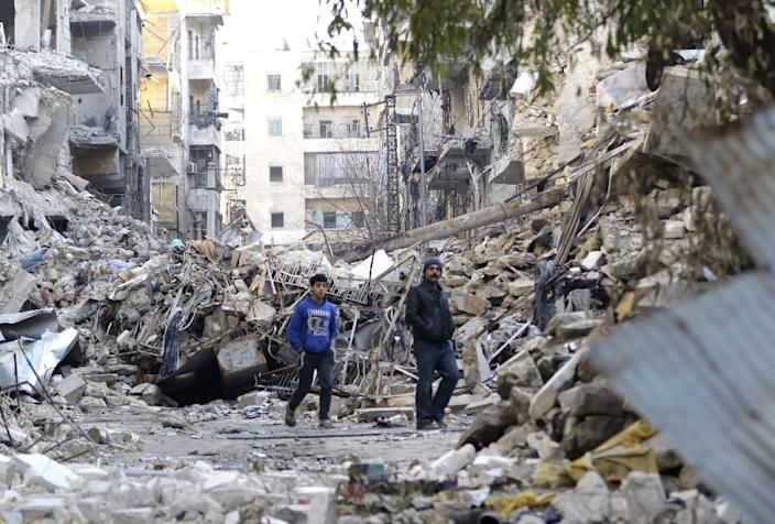 More than 310,000 people have been killed and millions more displaced by Syria's bitter six-year conflict (AFP Photo/Louai Beshara)