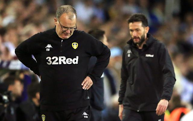 Marcelo Bielsa could leave Leeds after their play-off defeat by Derby - PA