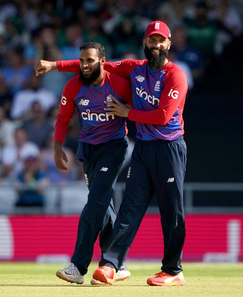 Adil Rashid, left, starred with the ball (PA Wire)