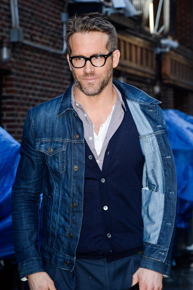 """<p>Ryan Reynolds grooming look is all """"who dis?"""" in the best way. It's low-fi and natural, in all its salt-and-pepper glory, but not boring either. If you're looking for a fade haircut that doesn't scream """"hipster"""", show this photo to your barber. He'll give you subtle contrast between the top and sides and send you home with a flexible pomade so your hair doesn't look like a helmut when you style it.</p>"""
