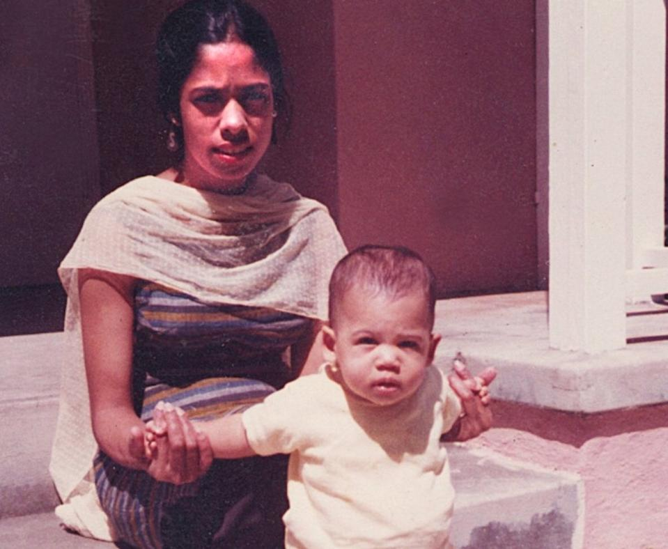 Shyamala Gopalan with baby Kamala Harris. (Courtesy of Kamala Harris)