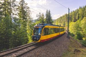 FLEXITY dual-system tram in operation