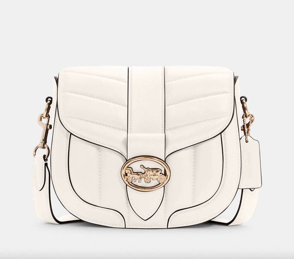 white leather coach outlet Georgie Saddle Bag with Quilting