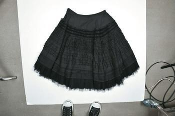 McQ black ruffle skirt $14,999
