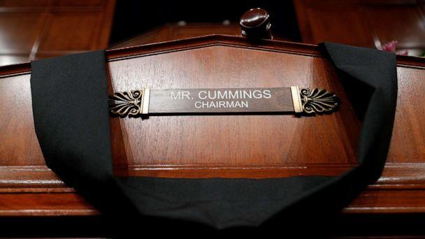 PHOTO: The House Committee on Oversight and Reform room displays a memorial for deceased committee Chairman Rep. Elijah Cummings on Capitol Hill, in Washington, Oct. 17, 2019. (Tom Brenner/Reuters)