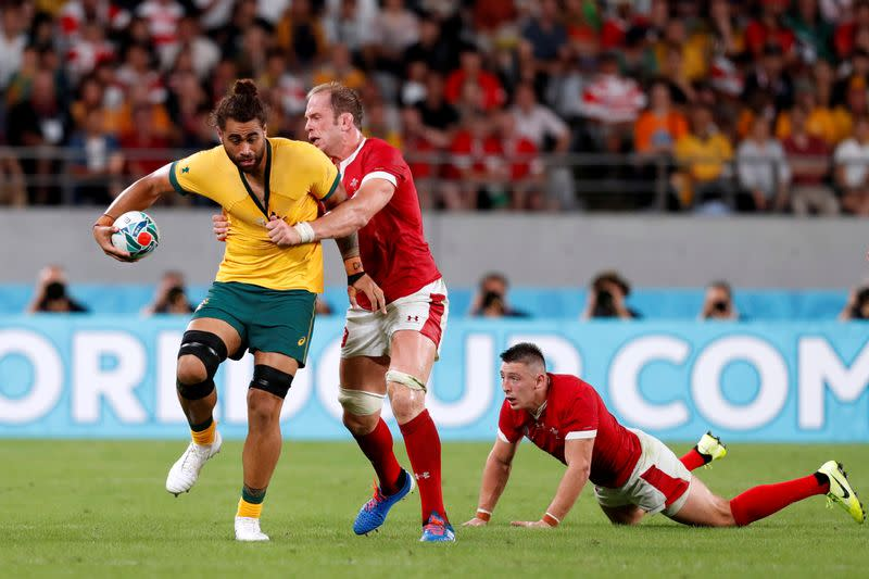 FILE PHOTO: Rugby World Cup 2019 - Pool D - Australia v Wales