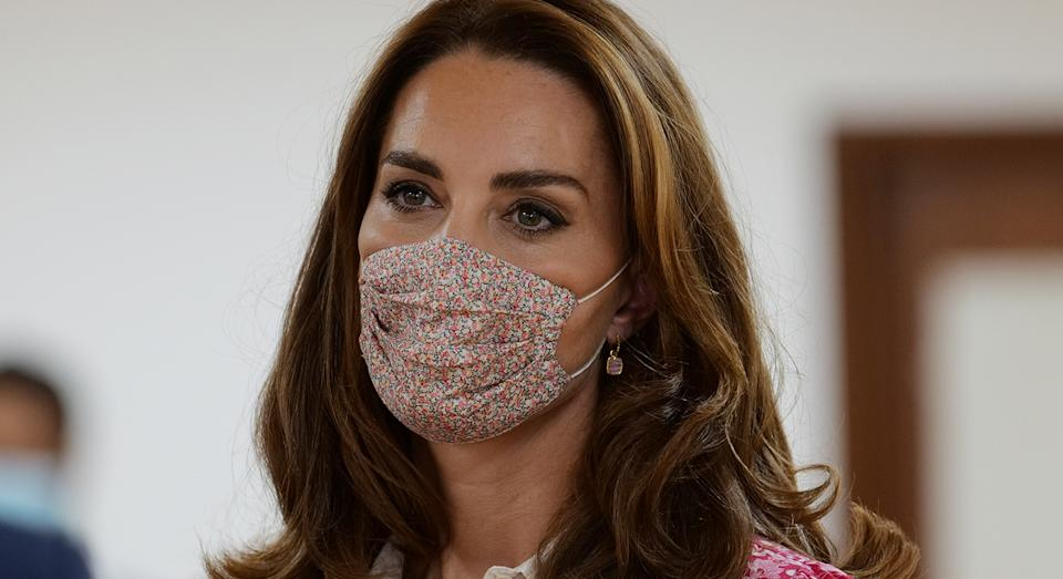 The Duchess of Cambridge's Missoma hoop earrings are now back in stock.  (Getty Images)