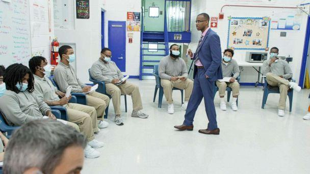 PHOTO: Joel Caston, an inmate in D.C. Jail, founded Young Men Emerging, a mentorship program that pairs long-serving prisoners with newly incarcerated men. (ABC News)