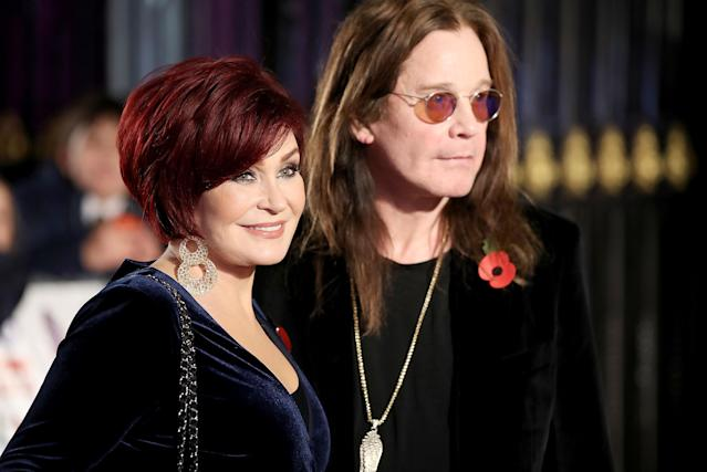 Sharon and Ozzy Osbourne attend the Pride of Britain Awards at Grosvenor House in London on Oct. 30 in London. (Photo: WireImage)