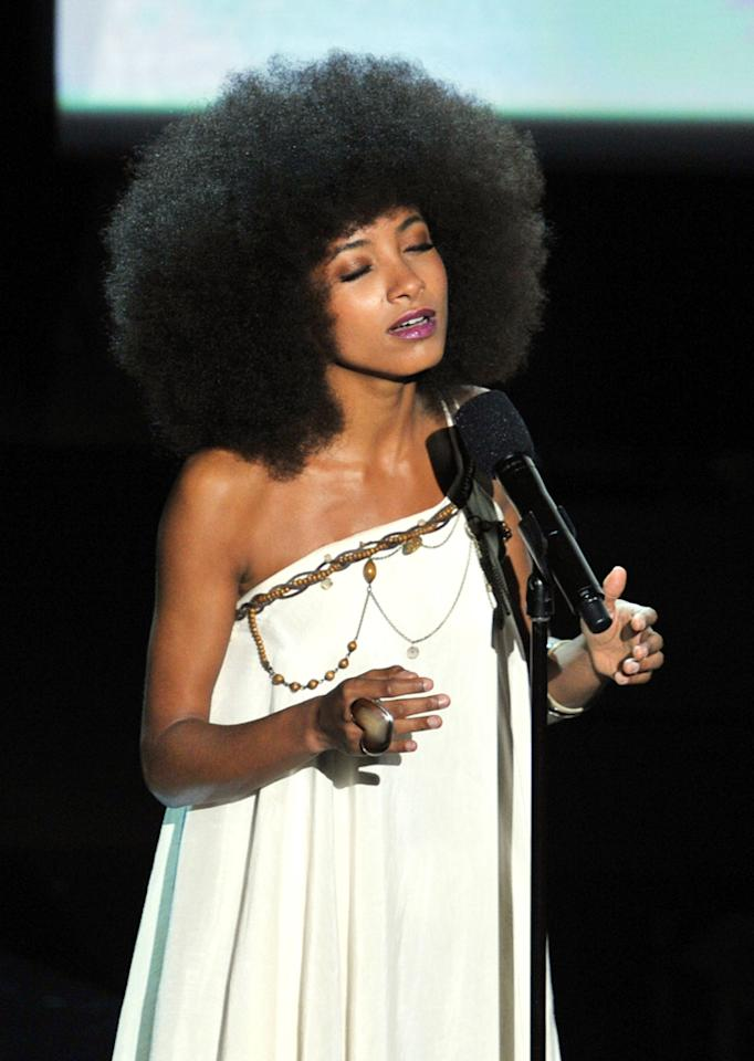 Esperanza Spalding on stage during the 84th Annual Academy Awards in Hollywood, CA.