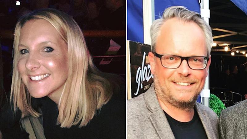 Helen Hancock (left) and boyfriend Martin Griffiths (right) both died after being found with multiple stab wounds on New Year's Day.