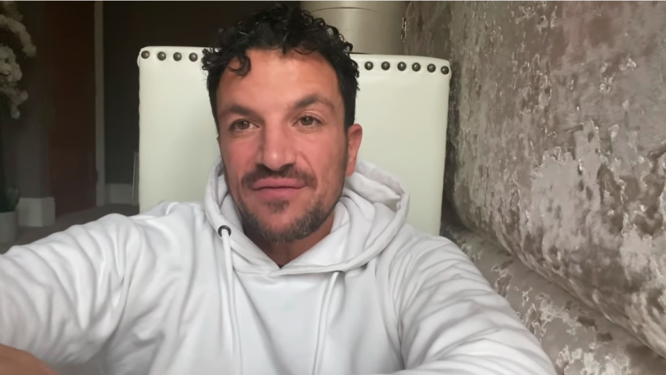 Peter Andre in a white jumper