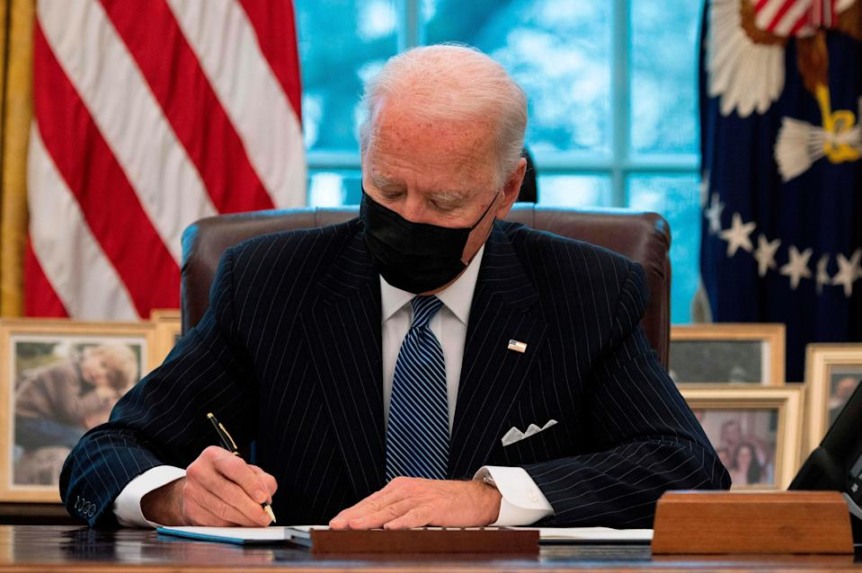 President Joe Biden placed blame on former President Donald Trump for the slow rollout of the COVID-19 vaccines. (Photo: Getty)