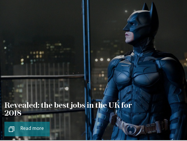 Revealed: the best jobs in the UK for 2018