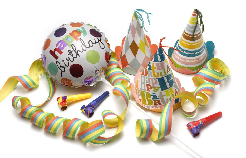"""<p>For basic party supplies, you can't go wrong checking out the Dollar Store for everything from utensils, tablecloths and paper plates. Amazon does offer party supply bundles but at a <a href=""""https://www.amazon.com/Party-Supplies-Games/b?ie=UTF8&node=1266203011"""" rel=""""nofollow noopener"""" target=""""_blank"""" data-ylk=""""slk:much higher price"""" class=""""link rapid-noclick-resp"""">much higher price</a>.</p>"""
