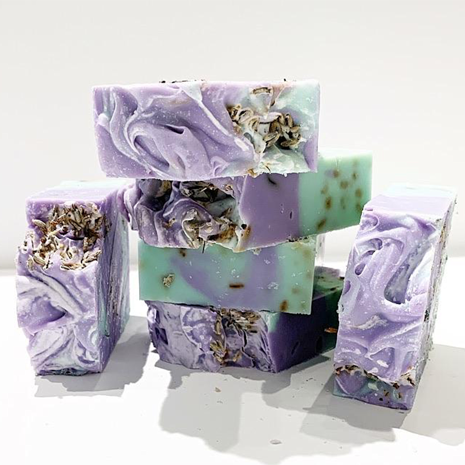 """<p><strong>Organically Bath & Beauty</strong></p><p>organicallybathbeauty.com</p><p><strong>$8.00</strong></p><p><a href=""""https://www.organicallybathbeauty.com/collections/soaps/products/lavender-eucalyptus-soap-bar"""" rel=""""nofollow noopener"""" target=""""_blank"""" data-ylk=""""slk:Shop Now"""" class=""""link rapid-noclick-resp"""">Shop Now</a></p><p><a href=""""https://www.instagram.com/organicallybeautyinc/"""" rel=""""nofollow noopener"""" target=""""_blank"""" data-ylk=""""slk:Organically Bath & Beauty"""" class=""""link rapid-noclick-resp"""">Organically Bath & Beauty</a> knows how to make beautiful soaps that are ALMOST too pretty to use. With products targeted towards sensitive skin, eczema, and even the most <em>delicate</em> areas, their handmade soaps make great gifts and showpieces for any bathroom. Oh and their scents range from calming lavender and eucalyptus to citrusy mai tai and tobacco-inspired bars. </p>"""