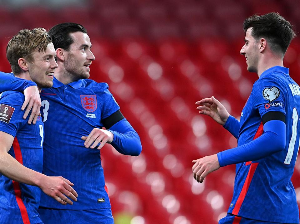 Mason Mount (right) and Ben Chilwell (centre) were standout performers (The FA via Getty Images)
