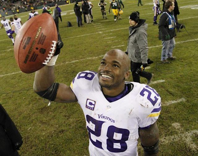 Adrian Peterson hopes to cap a great career with a Super Bowl (AP)