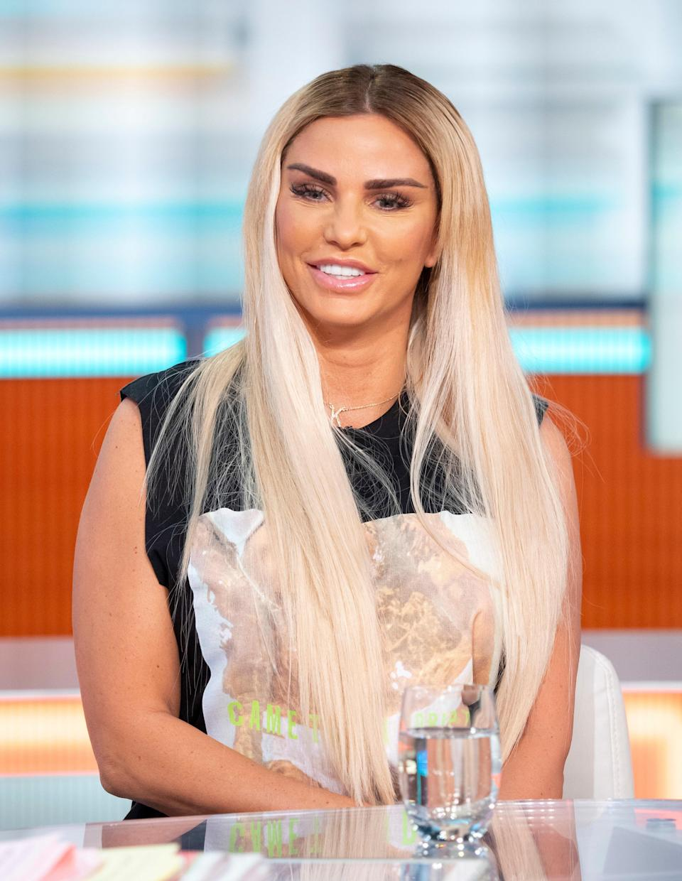 Glamour model Katie Price says shes going to keep having