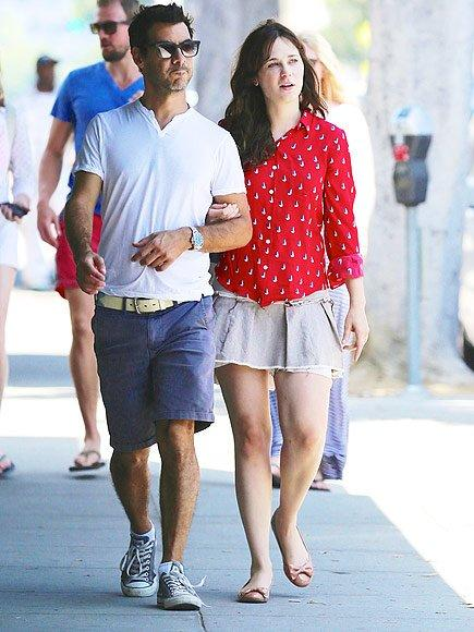 """Zooey Deschanel and producer Jacob Pechenik — who met on the set of their project <em>Rock the Kasbah</em> — made their debut as a couple in Venice Beach, California, on Aug. 10, 2014, just about five months before PEOPLE <a href=""""http://www.people.com/article/zooey-deschanel-engaged-to-jacob-pechenik"""">confirmed their engagement</a>."""