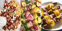 "<p>Let's face it, everyone loves a good kebab recipe. What's not love about skewered chunks of meat and vegetables? Whether it's <a href=""https://www.delish.com/uk/cooking/recipes/a33388598/veggie-kebabs/"" rel=""nofollow noopener"" target=""_blank"" data-ylk=""slk:Veggie Kebabs"" class=""link rapid-noclick-resp"">Veggie Kebabs</a>, <a href=""https://www.delish.com/uk/cooking/recipes/a35901474/chicken-souvlaki/"" rel=""nofollow noopener"" target=""_blank"" data-ylk=""slk:Chicken Souvlaki"" class=""link rapid-noclick-resp"">Chicken Souvlaki</a> or even <a href=""https://www.delish.com/uk/cooking/recipes/a32399432/pineapple-salmon-skewers-recipe/"" rel=""nofollow noopener"" target=""_blank"" data-ylk=""slk:Pineapple Salmon Skewers"" class=""link rapid-noclick-resp"">Pineapple Salmon Skewers</a> (they're insanely delicious), nothing tastes quite as delicious as a meal prepared on the barbecue. Hence, our array of easy-to-make, tasty skewer recipes. So, if you're on the hunt for ways to level up your BBQ spread this summer, look no further than our amazing recipes! </p><p>And did we mention we've thrown in a handful of sweet kebab recipes, too? (You have no idea what you've been missing...<a href=""https://www.delish.com/uk/cooking/recipes/a33122874/banana-split-kebabs/"" rel=""nofollow noopener"" target=""_blank"" data-ylk=""slk:Banana Split Kebabs"" class=""link rapid-noclick-resp"">Banana Split Kebabs</a>). </p>"