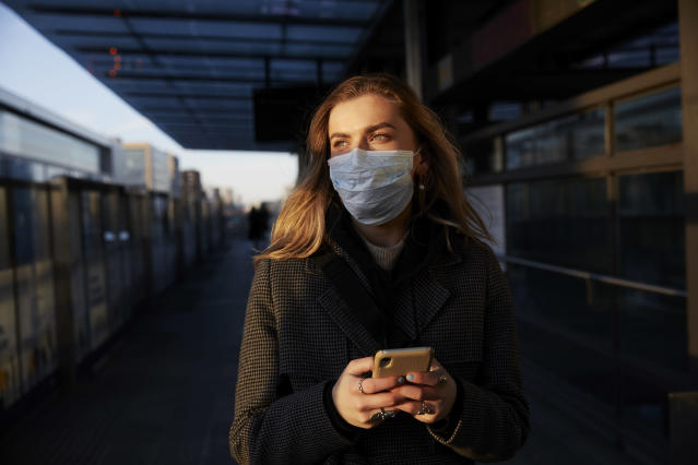 Face coverings are mandatory for most on public transport in England. (Getty Images)