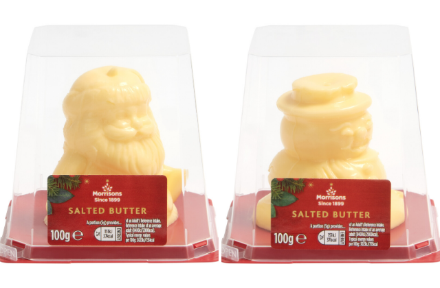 Morrison's Festive Butters are back! (Photo: Morrisons)