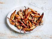 """Pears and walnuts are delicious together; walnuts and bacon make total sense. When you combine them all, it's magic. <a href=""""https://www.bonappetit.com/recipe/sauteed-pears-with-bacon-and-mustard-dressing?mbid=synd_yahoo_rss"""" rel=""""nofollow noopener"""" target=""""_blank"""" data-ylk=""""slk:See recipe."""" class=""""link rapid-noclick-resp"""">See recipe.</a>"""