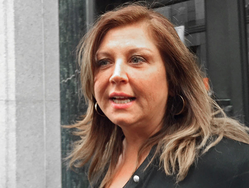 "Reality TV show star Abby Lee Miller leaves at the federal courthouse after pleading not guilty to federal charges in Pittsburgh, Pennsylvania November 2, 2015. Miller pleaded not guilty in a Pennsylvania courthouse on Monday to concealing over $755,000 in income she is accused of earning while head instructor on ""Dance Moms"" and spinoff shows. REUTERS/Elizabeth Daley"