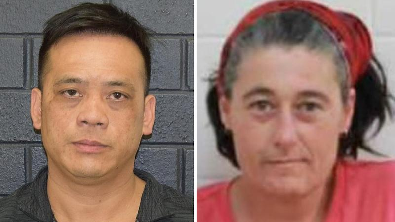 Phu Tran (L) and Claire Hockridge remain missing after their ute got bogged south of Alice Springs