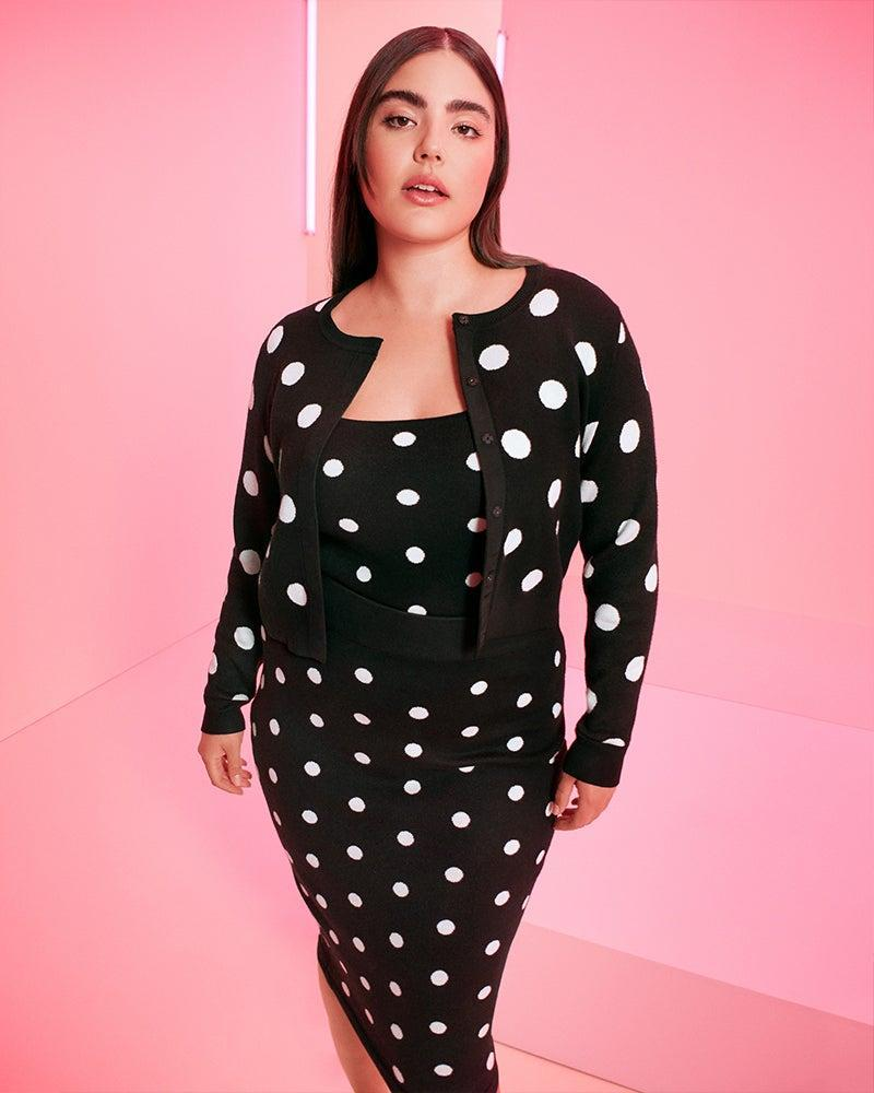 """<strong><h3>Victor Glemaud x Target</h3></strong><br><br><strong>Victor Glemaud x Target</strong> Polka Dot Midi Sweater Skirt, $, available at <a href=""""https://go.skimresources.com/?id=30283X879131&url=https%3A%2F%2Fgoto.target.com%2F2rdqXO"""" rel=""""nofollow noopener"""" target=""""_blank"""" data-ylk=""""slk:Target"""" class=""""link rapid-noclick-resp"""">Target</a><br><br><strong>Victor Glemaud x Target</strong> Polka Dot Cardigan, $, available at <a href=""""https://go.skimresources.com/?id=30283X879131&url=https%3A%2F%2Fgoto.target.com%2FZdN1J1"""" rel=""""nofollow noopener"""" target=""""_blank"""" data-ylk=""""slk:Target"""" class=""""link rapid-noclick-resp"""">Target</a><br><br><strong>Victor Glemaud x Target</strong> Polka Dot Tank Top, $, available at <a href=""""https://go.skimresources.com/?id=30283X879131&url=https%3A%2F%2Fgoto.target.com%2F9WEPxy"""" rel=""""nofollow noopener"""" target=""""_blank"""" data-ylk=""""slk:Target"""" class=""""link rapid-noclick-resp"""">Target</a>"""