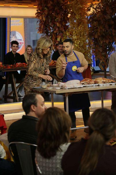 PHOTO: Bon Appetit senior food editor Andy Baraghani talks turkey for Friendsgiving on 'GMA.' (ABC News)