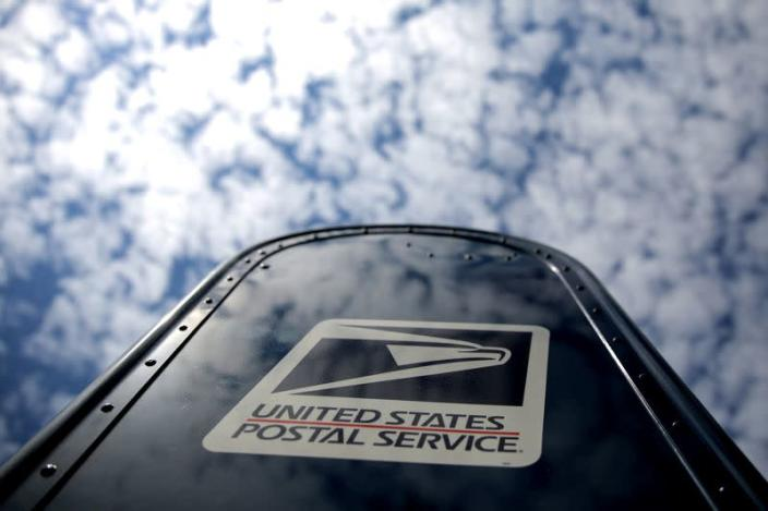 FILE PHOTO: A United States Postal Service (USPS) mailbox is seen in downtown Washington