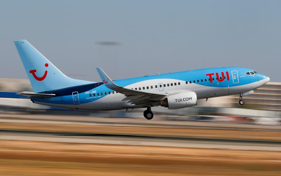 A TUI Boeing 737 airplane takes off from the airport in Palma de Mallorca - Paul Hanna/Reuters