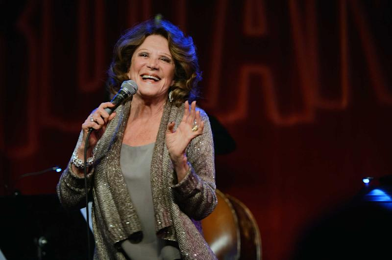 """This Monday, Feb. 25, 2013 photo released by the Pulmonary Fibrosis Foundation shows actress Linda Lavin performing at the third annual """"Broadway Belts for PFF!"""" a benefit for the Pulmonary Fibrosis Foundation at the Birdland Jazz Club in New York. (AP Photo/Pulmonary Fibrosis Foundation, Chris Owyoung)"""