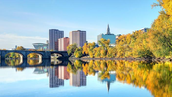 Hartford Connecticut in the fall