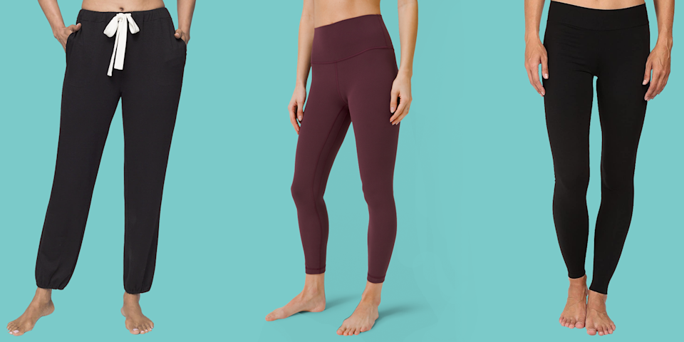 """<p>Investing in cute and cozy loungewear is always a great idea, no matter if you're stuck indoors, heading to the grocery store, or cooped up on a long road trip. Comfort often takes priority, but that doesn't mean our sweats can't be stylish too.</p><p>The <a href=""""https://www.goodhousekeeping.com/institute/about-the-institute/a19748212/good-housekeeping-institute-product-reviews/"""" rel=""""nofollow noopener"""" target=""""_blank"""" data-ylk=""""slk:Good Housekeeping Textiles Lab"""" class=""""link rapid-noclick-resp"""">Good Housekeeping Textiles Lab</a> is comprised of experts who regularly test everything from <a href=""""https://www.goodhousekeeping.com/clothing/g543/best-pajamas/"""" rel=""""nofollow noopener"""" target=""""_blank"""" data-ylk=""""slk:women's pajamas"""" class=""""link rapid-noclick-resp"""">women's pajamas</a> to <a href=""""https://www.goodhousekeeping.com/clothing/g27206929/best-black-leggings/"""" rel=""""nofollow noopener"""" target=""""_blank"""" data-ylk=""""slk:leggings"""" class=""""link rapid-noclick-resp"""">leggings</a> for things like durability, pilling resistance, and moisture management. We also evaluate how well they hold up in the wash and have consumer testers weigh in on factors like comfort and fit to find <strong>the best, most comfortable loungewear that will last you years.</strong></p><p>Below are best loungewear brands for women, including <a href=""""https://www.goodhousekeeping.com/clothing/g27206929/best-black-leggings/"""" rel=""""nofollow noopener"""" target=""""_blank"""" data-ylk=""""slk:soft and cozy leggings"""" class=""""link rapid-noclick-resp"""">soft and cozy leggings</a>, comfy <a href=""""https://www.goodhousekeeping.com/clothing/g31675246/best-sweatpants-for-women/"""" rel=""""nofollow noopener"""" target=""""_blank"""" data-ylk=""""slk:sweatpants and joggers"""" class=""""link rapid-noclick-resp"""">sweatpants and joggers</a>, plush <a href=""""https://www.goodhousekeeping.com/clothing/g28350294/best-bathrobes-for-women/"""" rel=""""nofollow noopener"""" target=""""_blank"""" data-ylk=""""slk:robes"""" class=""""link rapid-noclick-resp"""">robes</a>, and more. This list """