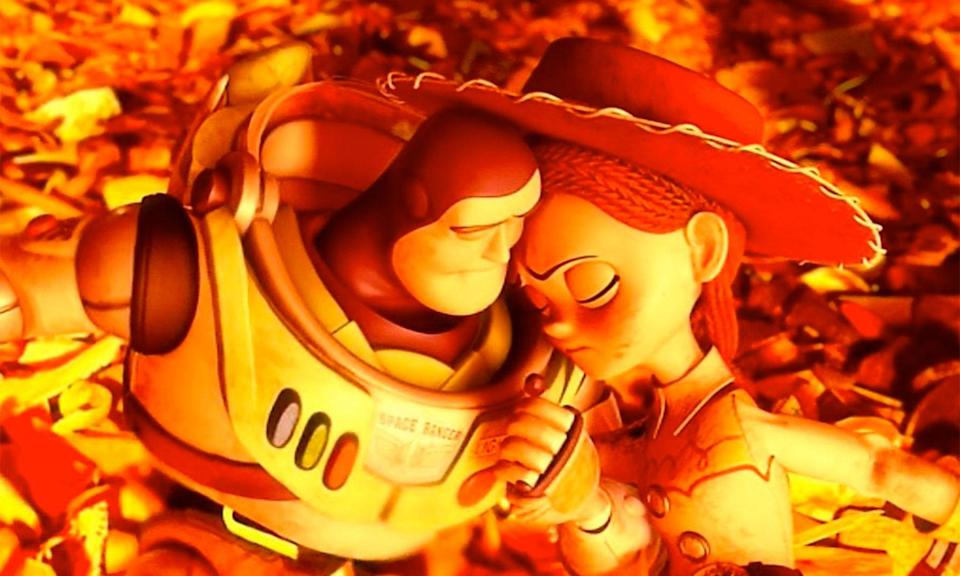 Buzz and Jessie face their destiny in Toy Story 3's most heartbreaking scene. (Disney)