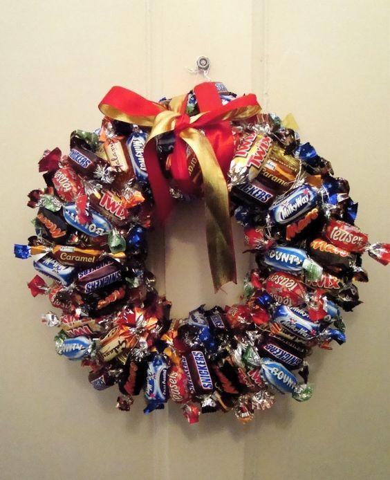 "<p>It's no secret that we all love a chocolate or two around this time of year. Display your choccie's in the best way by creating a wreath… we just don't know how long it will last.<a rel=""nofollow"" href=""https://uk.pinterest.com/pin/313492824033251817/""><em> [Photo: Pinterest]</em></a> </p>"