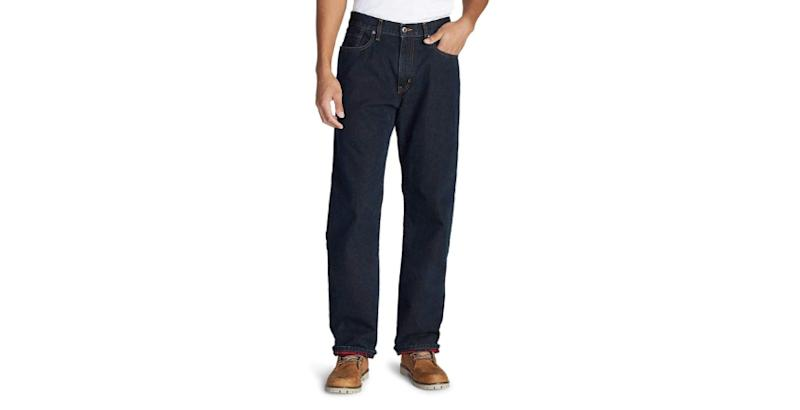 Save 50 percent on these flannel-lined jeans. (Photo: Amazon)