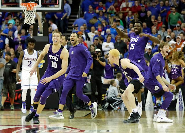 <p><strong>50. TCU</strong><br> Trajectory: Down. Horned Frogs jumped into the top 40 the two previous years, but backslid to 60th in 2016-17. </p>
