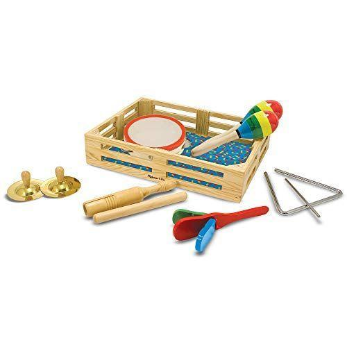 "<p><strong>Melissa & Doug</strong></p><p>amazon.com</p><p><strong>$17.49</strong></p><p><a href=""https://www.amazon.com/dp/B00005RF5C?tag=syn-yahoo-20&ascsubtag=%5Bartid%7C10055.g.33609399%5Bsrc%7Cyahoo-us"" rel=""nofollow noopener"" target=""_blank"" data-ylk=""slk:Shop Now"" class=""link rapid-noclick-resp"">Shop Now</a></p><p>Bring music class right into your home thanks to this 10-piece set. Your kids will have a ball learning all the new sounds and creating their own band. </p>"