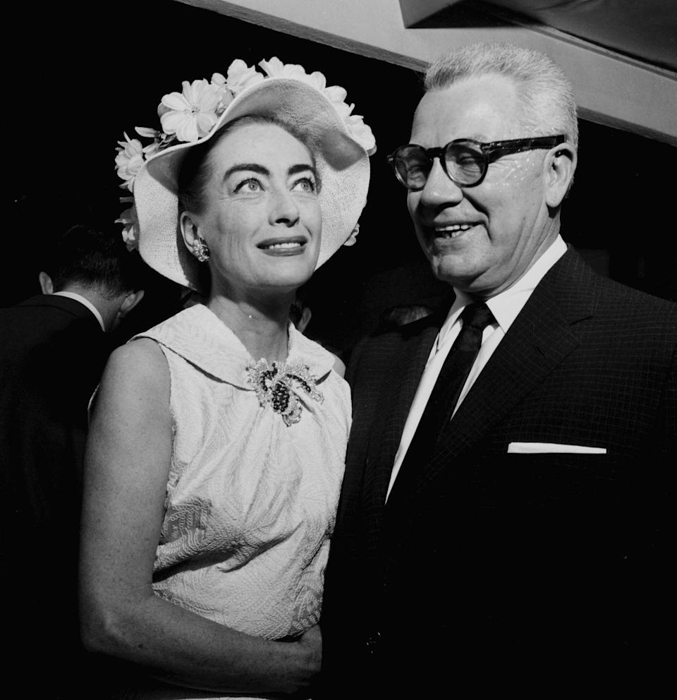 """<p>During her marriage to Al, Joan began to represent the brand he was an executive for, Pepsi-Cola, as a spokeswoman — <a href=""""https://www.vanityfair.com/hollywood/2017/03/feud-joan-crawford"""" rel=""""nofollow noopener"""" target=""""_blank"""" data-ylk=""""slk:even installing vending machines on her movie sets"""" class=""""link rapid-noclick-resp"""">even installing vending machines on her movie sets</a>. </p>"""
