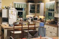 """<p>You may have assumed it's a set at all, but it's a real house in <a href=""""https://www.tripsavvy.com/greys-anatomy-intern-house-in-seattle-2965087"""" rel=""""nofollow noopener"""" target=""""_blank"""" data-ylk=""""slk:Seattle"""" class=""""link rapid-noclick-resp"""">Seattle</a>.</p>"""