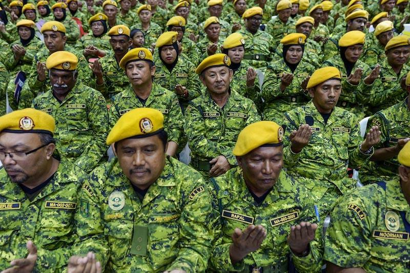Members of Rela attend its 46th anniversary celebrations in Serdang March 10, 2018. — Picture by Mukhriz Hazim