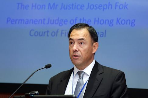 Justice Joseph Fok, 57, is a permanent judge of the Court of Final Appeal.