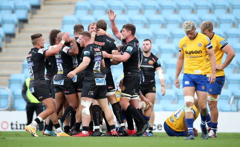 Rugby - Exeter crush Bath 35-6 to reach fifth straight Premiership final