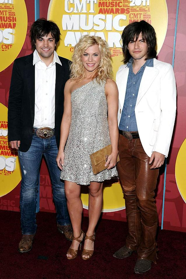 "Musical siblings Neil, Kimberly, and Reid Perry of The Band Perry clearly love big hair! Mike Coppola/<a href=""http://www.wireimage.com"" target=""new"">WireImage.com</a> - June 8, 2011"